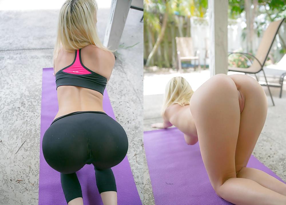 Girls yoga pants porn pics