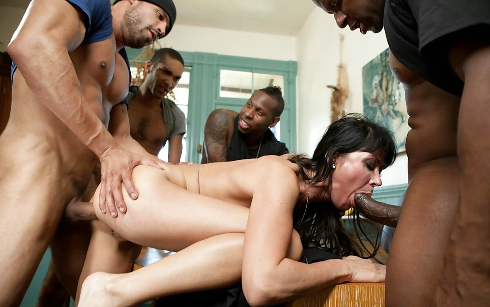 Factory worker gangbang