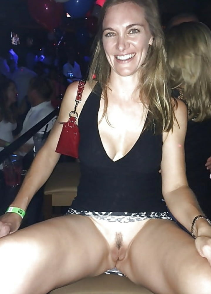 Drunk party girls flashing pussy