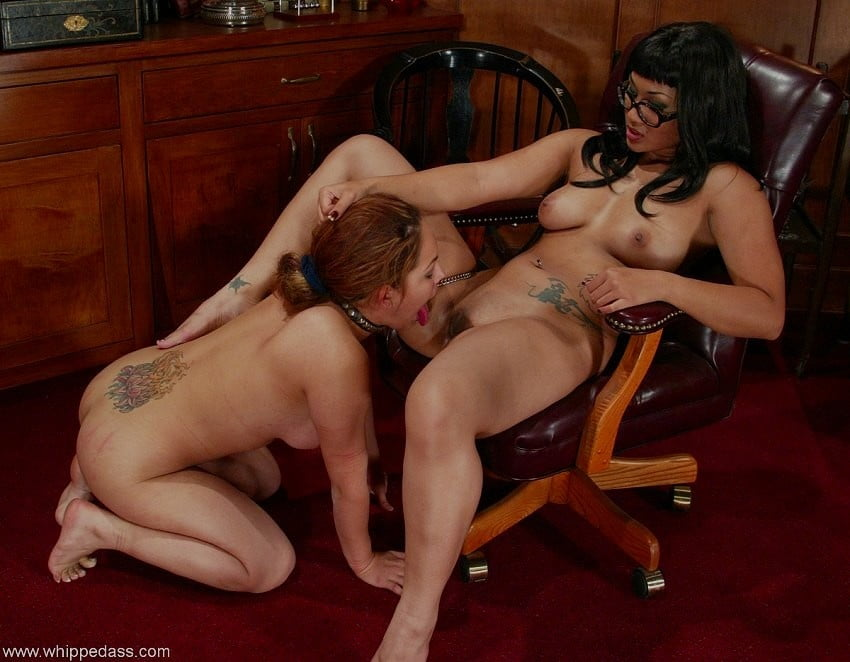 Hot Young Mistress Roughs Up A Dirty Old Lesbian Slave