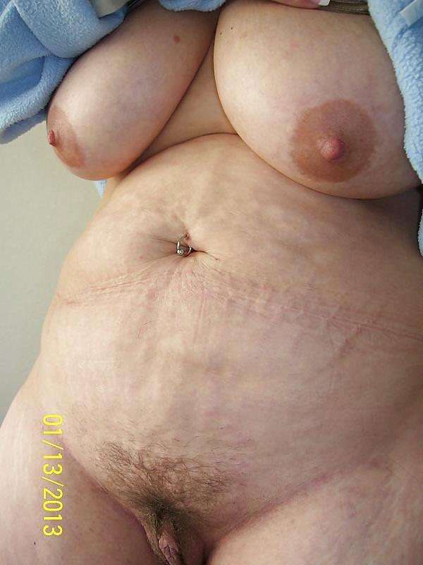Nudes older lady belly