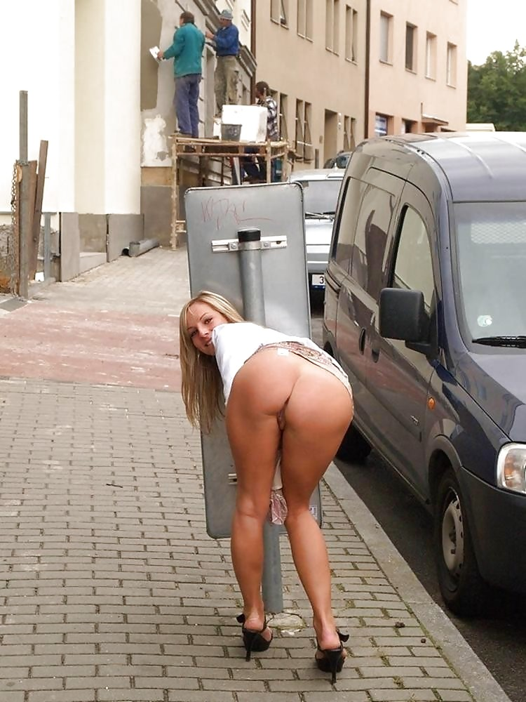 Asses in public clip with young