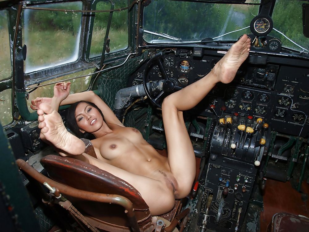 Girls naked on aircraft #3