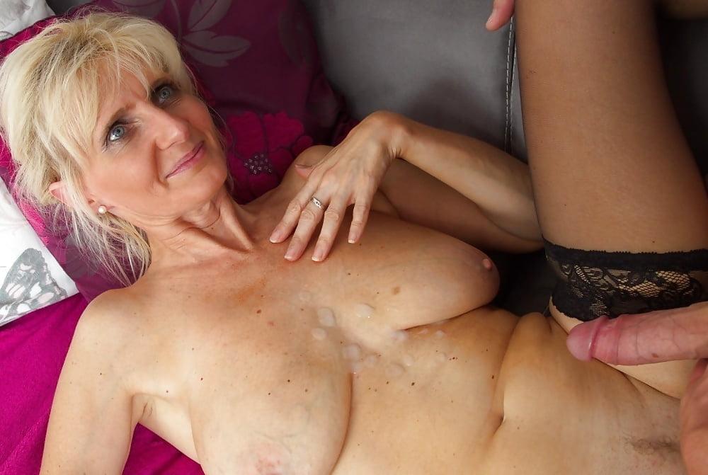 Granny Orgasm In Suspenders