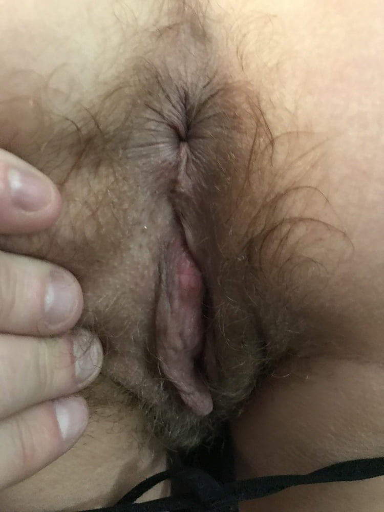 Black Leather & Hairy Pussy from Behind American Milf 17
