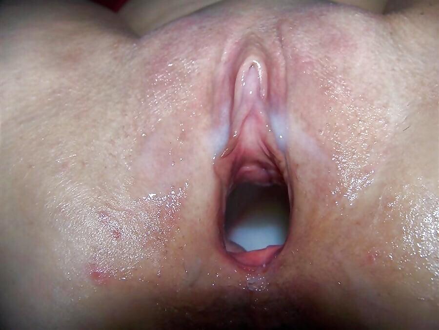 Крупное фото влагалищ с спермой внутри после секса — pic 5