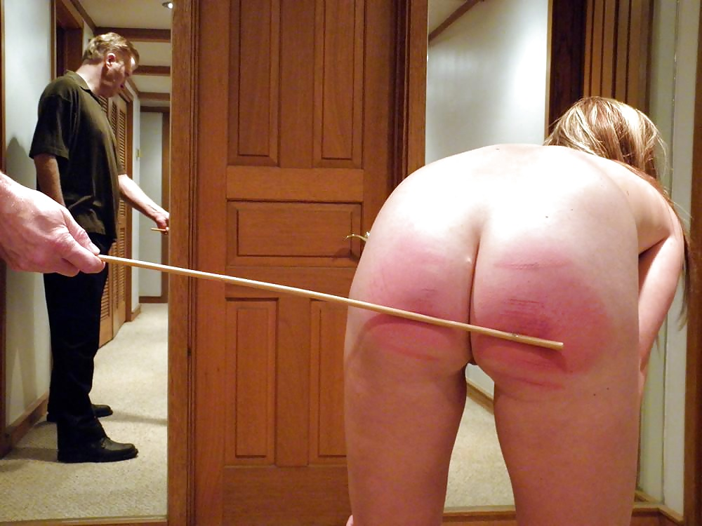 Naked loopy caning spanking wall