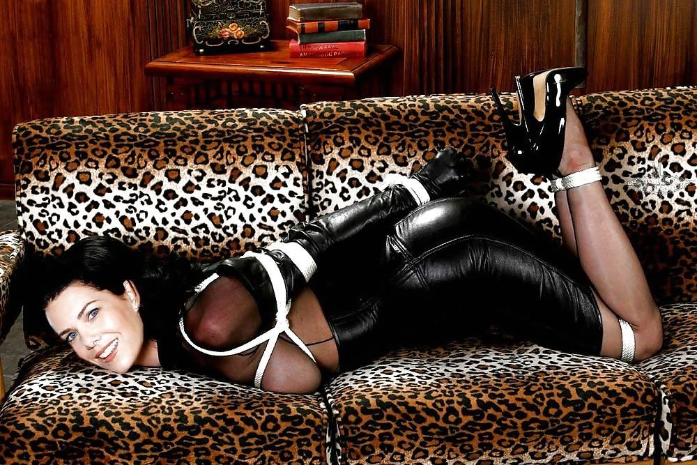 Bondage black leather girl mini skirt by matintheworld